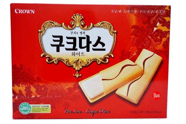 Bánh Crown Hàn Quốc vị coffee 288g (mầu đỏ)