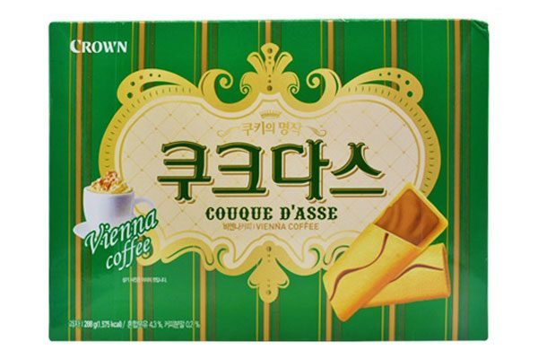 Bánh Crown Hàn Quốc vị vani 288g (mầu xanh)