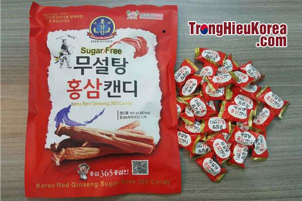 Kẹo hồng sâm không đường 500g (gói đỏ)