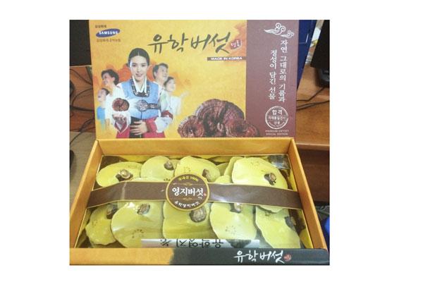 Nấm linh chi tai vàng loại 1 hộp 1kg