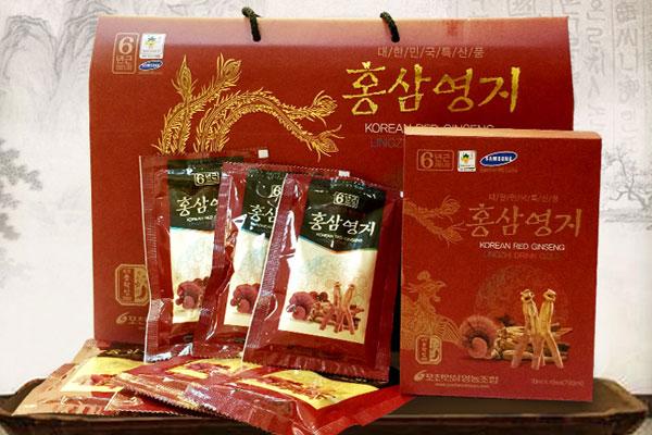 Nước hồng sâm linh chi Pocheon 30 gói/70ml