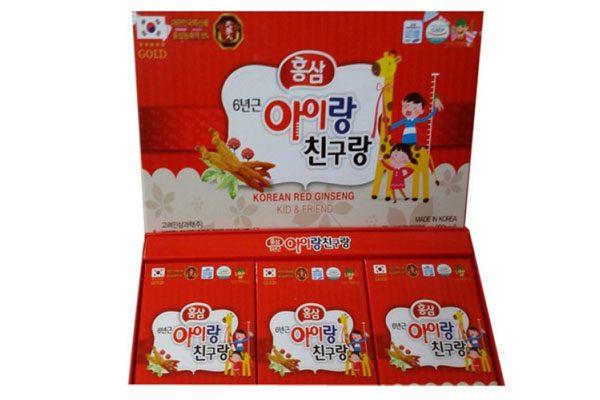 Nước hồng sâm trẻ em Korean Ginseng Kid & Friend
