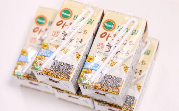 Sữa óc chó hạnh nhân Hàn Quốc dạng hộp