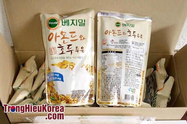 Sữa óc chó hạnh nhân Vegemil Hàn Quốc - 20 gói