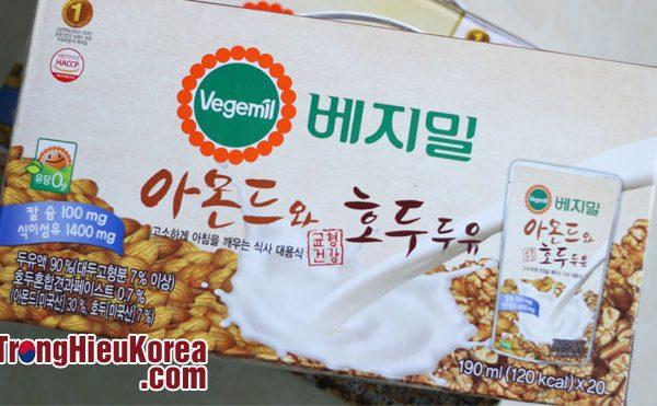 Sữa óc chó hạnh nhân Vegemil Hàn Quốc