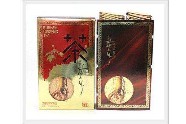 Trà hồng sâm Teawoong Hàn Quốc hộp 100 gói