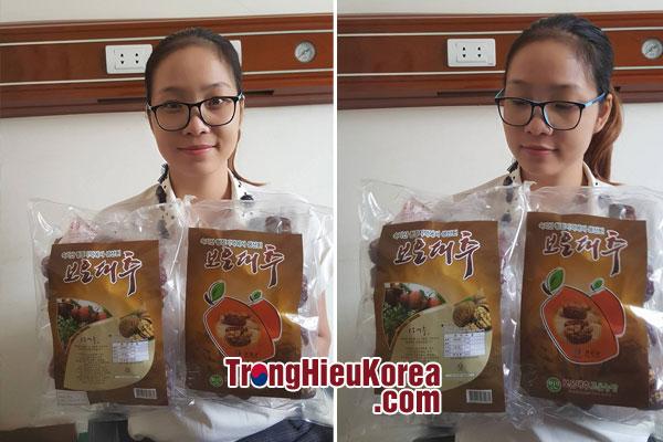 Táo đỏ kẹp óc chó Hàn Quốc - Gói 500g