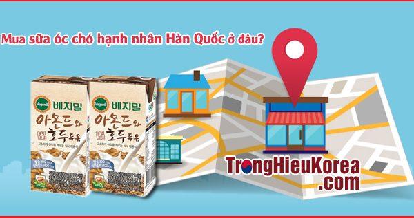 Mua sữa óc chó hạnh nhân Vegemil Hàn Quốc ở đâu tốt nhất?