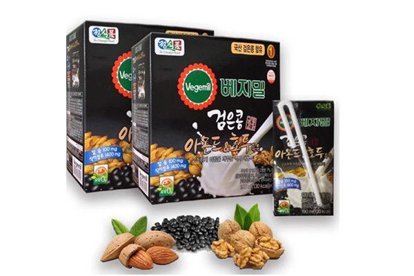 Sữa óc chó hạnh nhân đỗ đen Vegemil Hàn Quốc - 16 hộp 190ml