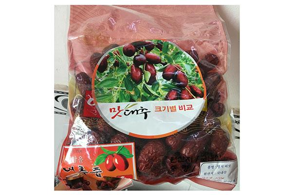 Táo đỏ khô Jujube Hàn Quốc - Túi 500g