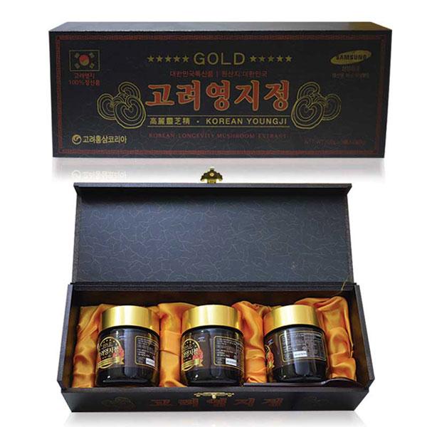 Cao Linh Chi núi hộp gỗ đen Hàn Quốc 120g x 3