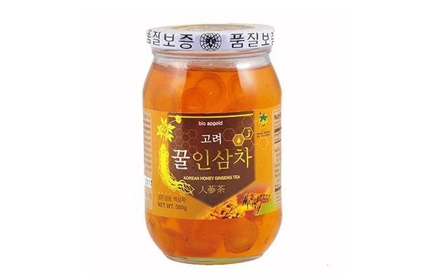 Nhân sâm tươi ngâm mật ong Bio Apgold lọ 580g