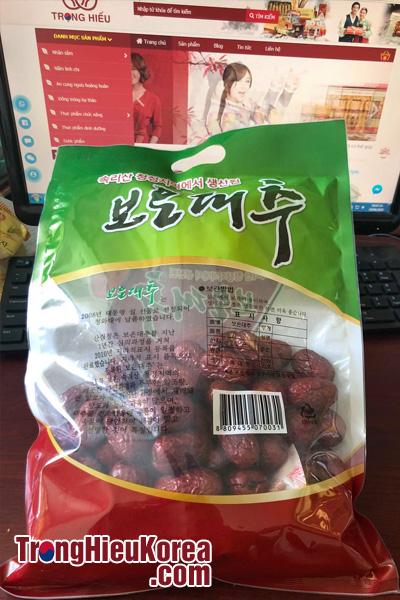 Táo đỏ khô Hàn Quốc (Jujube mẫu mới 2018) túi 500g